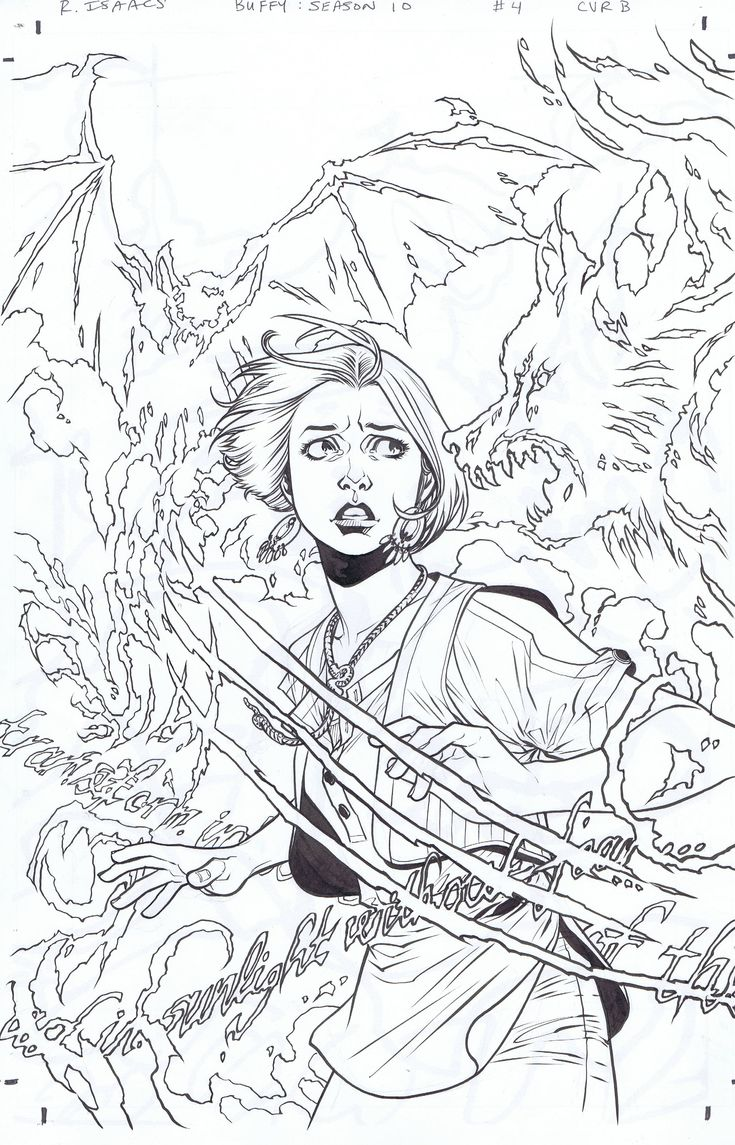 Buffy The Vire Slayer Coloring Book | Coloring Pages
