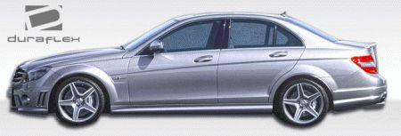 Mercedes C Class Mercedes-Benz C Class Duraflex C63 Look Side Skirts Rocker Panels - 2 Piece - 106125