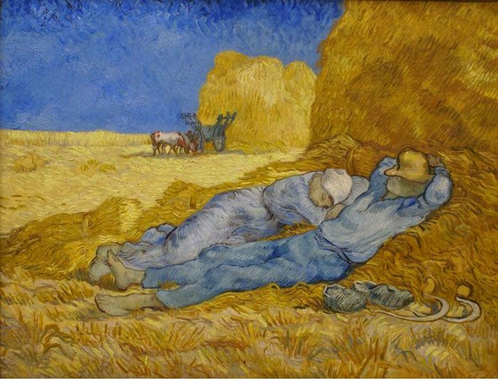 Van Gogh Painting Noon Rest From Work Vincent Van Gogh Paintings Van Gogh Art Vincent Van Gogh Art