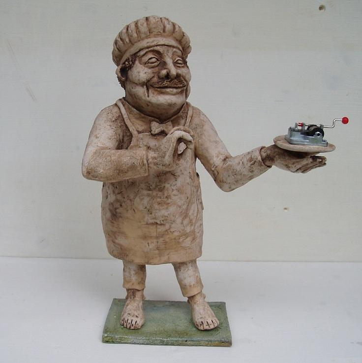 Cook, ceramic sculpture Michaela Stejskalova