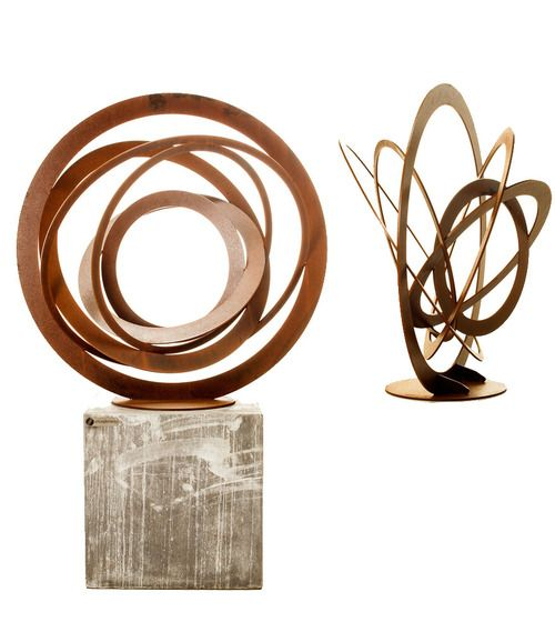 Entanglements Sphere Sculpture - Rust $1040