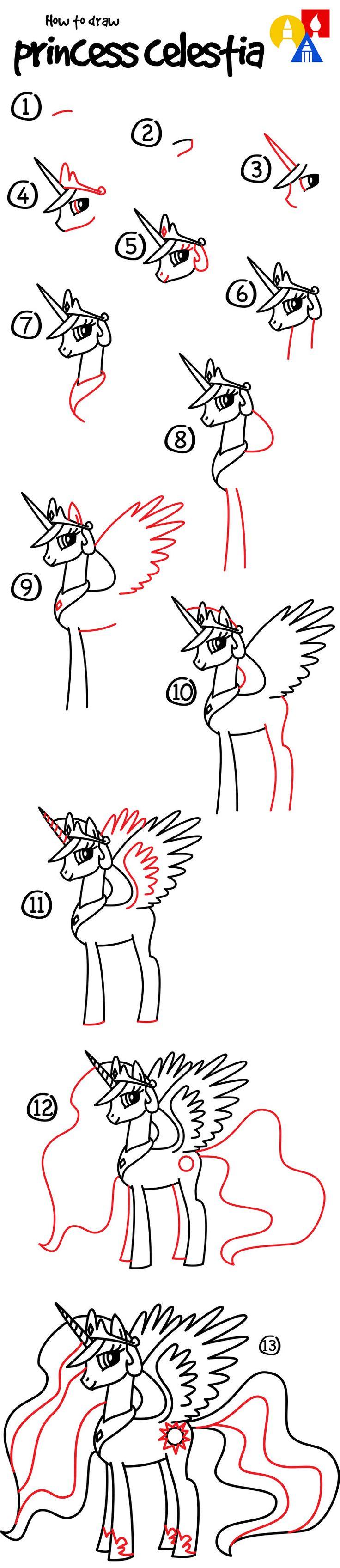 Learn how to draw Princess Celestia!