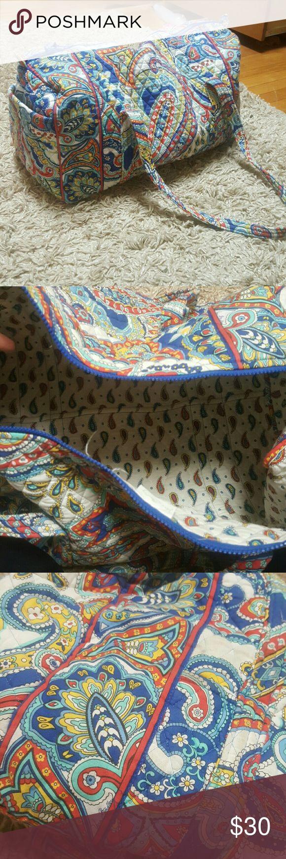 Retired Vera Bradley Large Duffel Marina paisley patterned large duffel, lightly used! Vera Bradley Bags Travel Bags