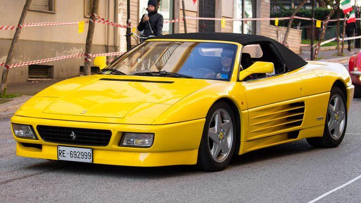 Yellow Ferrari 348 GT Competizione