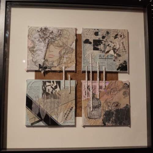 SALE Set me free. Original mixed media collage by KeepOnDreamer, €100.00