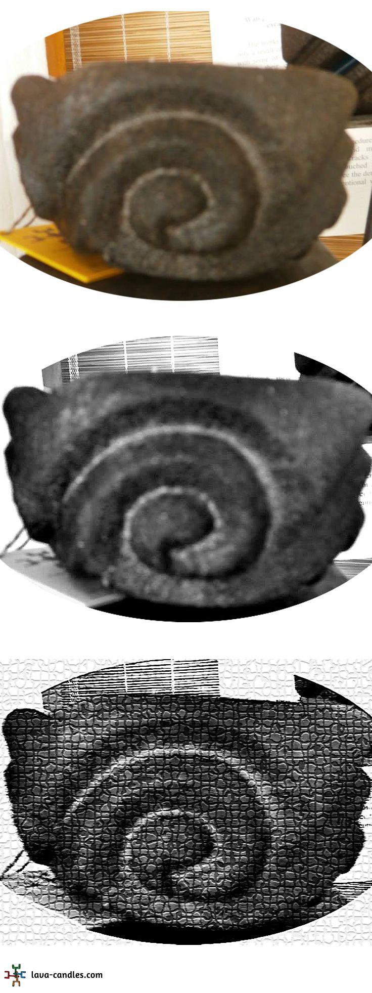 Handgefertigte Lavakerze / Duftkerze SCHWEIF // lava candle TAIL  #lavacandle #lavakerze #lava #gift #geschenk #art #kunst #santorini  #handmade #handcrafted #kerze #candle #design #duftkerze #handarbeit #tail #stone #handarbeit #sculpture #skulptur