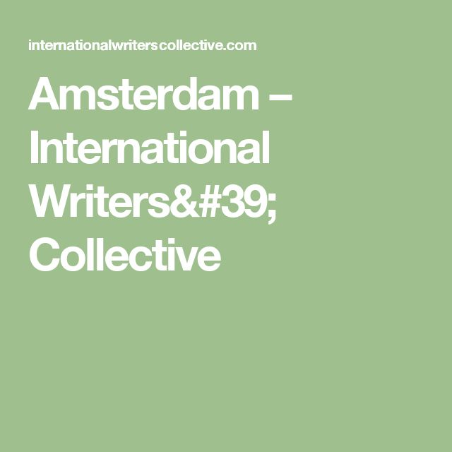 Amsterdam – International Writers' Collective