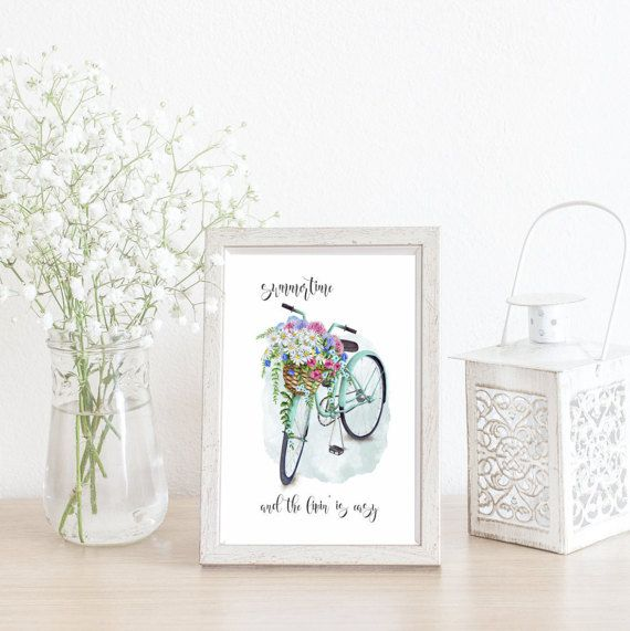 Check out this item in my Etsy shop https://www.etsy.com/ca/listing/514146369/summertime-and-the-livin-is-easy-bicycle