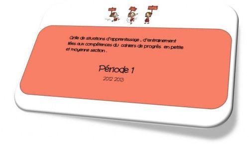 PS-MS : Période 1 et trame pour les situations d'apprentissages