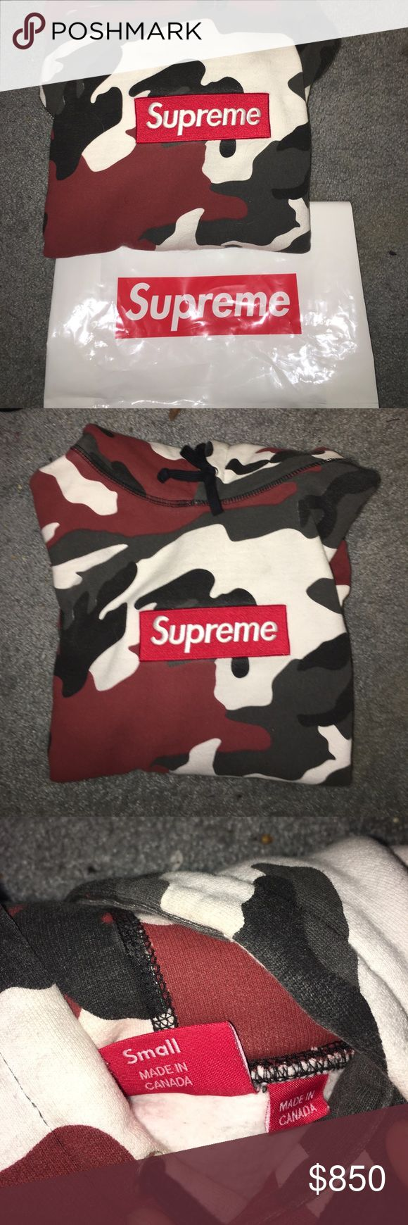 Red camo supreme box logo hoodie Rarest sizes are size smalls which is why the price is high. 9/10 condition only women twice since 2013 do as many legit checks as you want. Highest offer takes it. IF YOURE GOING TO TRADE I DO NOT SEND FIRST. Cheaper through pay p Supreme Sweaters