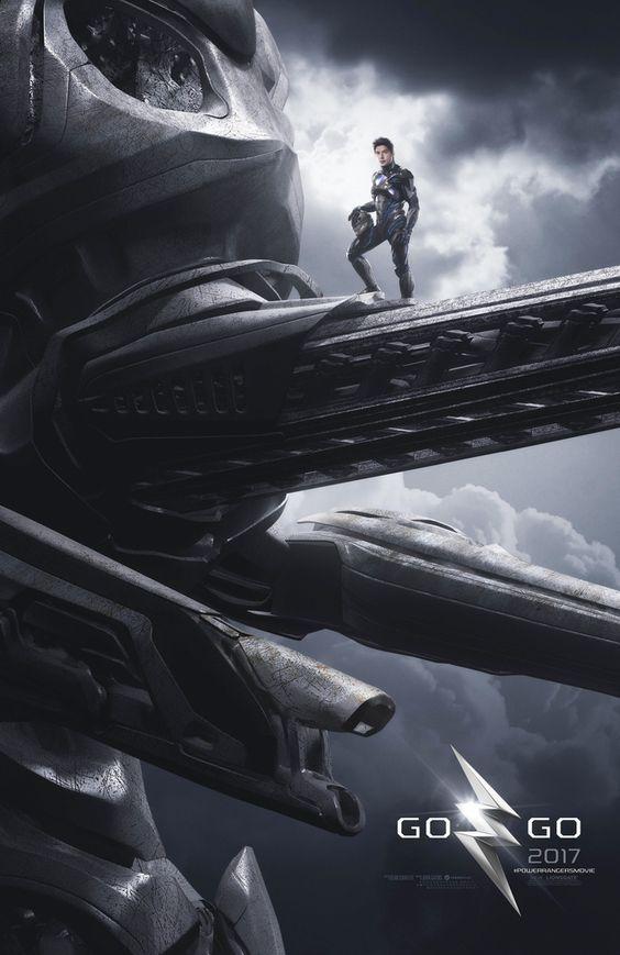 2017 MMPR movie Black Ranger on Mastodon Zord Teaser Poster #mightymorphinpowerrangers #cosplayclass #anime