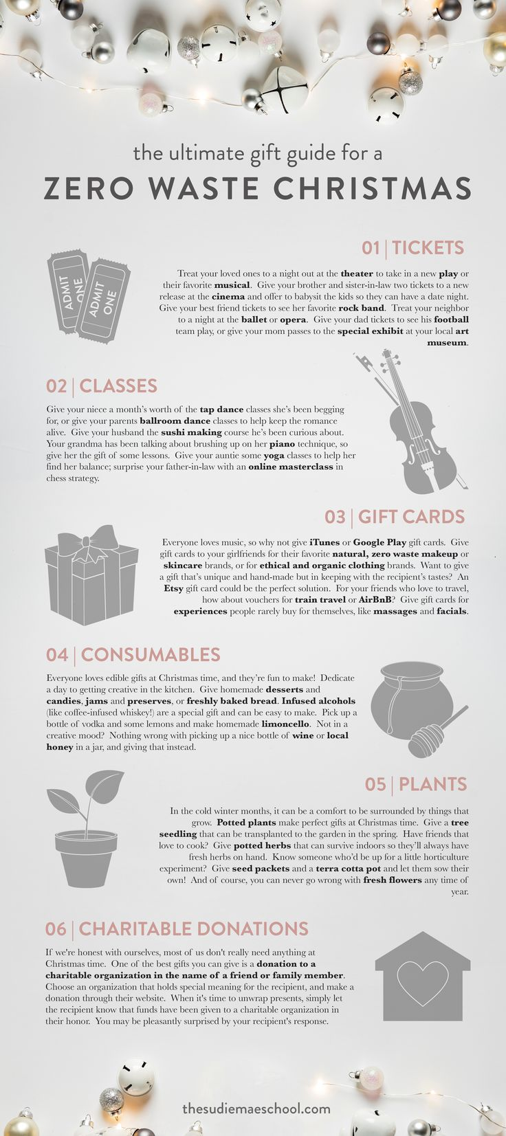 Christmas gift ideas that don't create excess waste!