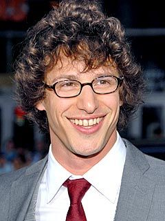 Andy Samberg.  Look at that mouth!  My whole head could fit in there.