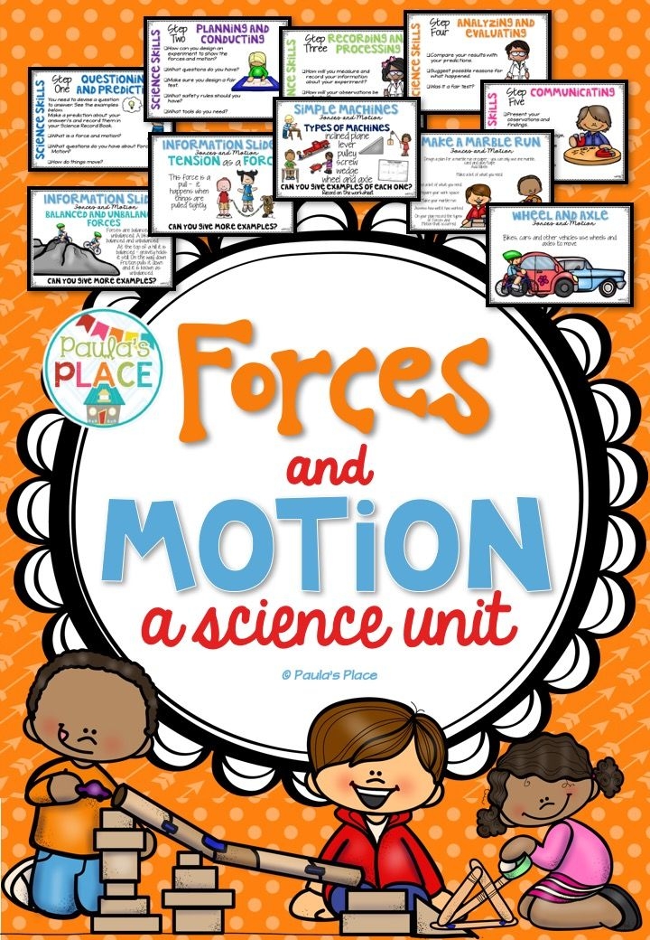 Forces and Motion - a powerpoint and a supporting pack that has posters, prompts and a recording book for an investigation on forces and motion.