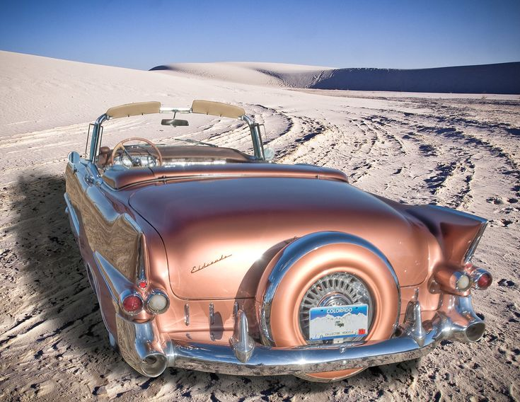 1955 Cadillac Biarritz | Cadillac convertible in White Sands… | Flickr #Cadillac
