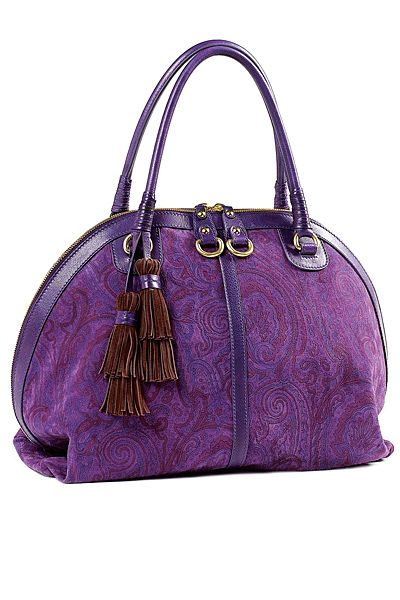Etro - Women's Accessories - 2010 Fall-Winter: Women Accessories, Things Purple, Color Purple, Accessories 2010, Violets Fashion, Purple Things, Pocket Book, Clutches Obsess, 2010 Fall Wint