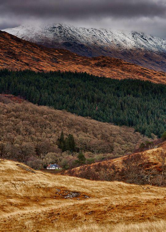 Snow Capped Ceann Loch Uachdrach, Scotland ~ Mark Mullen