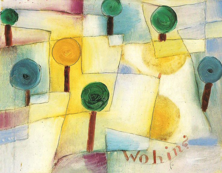 '<3'  Paul Klee - Wohin? Junger Garten, 1920 - Olio su carta, incollato su cartone - Dim: 23,5 x 29,5 cm