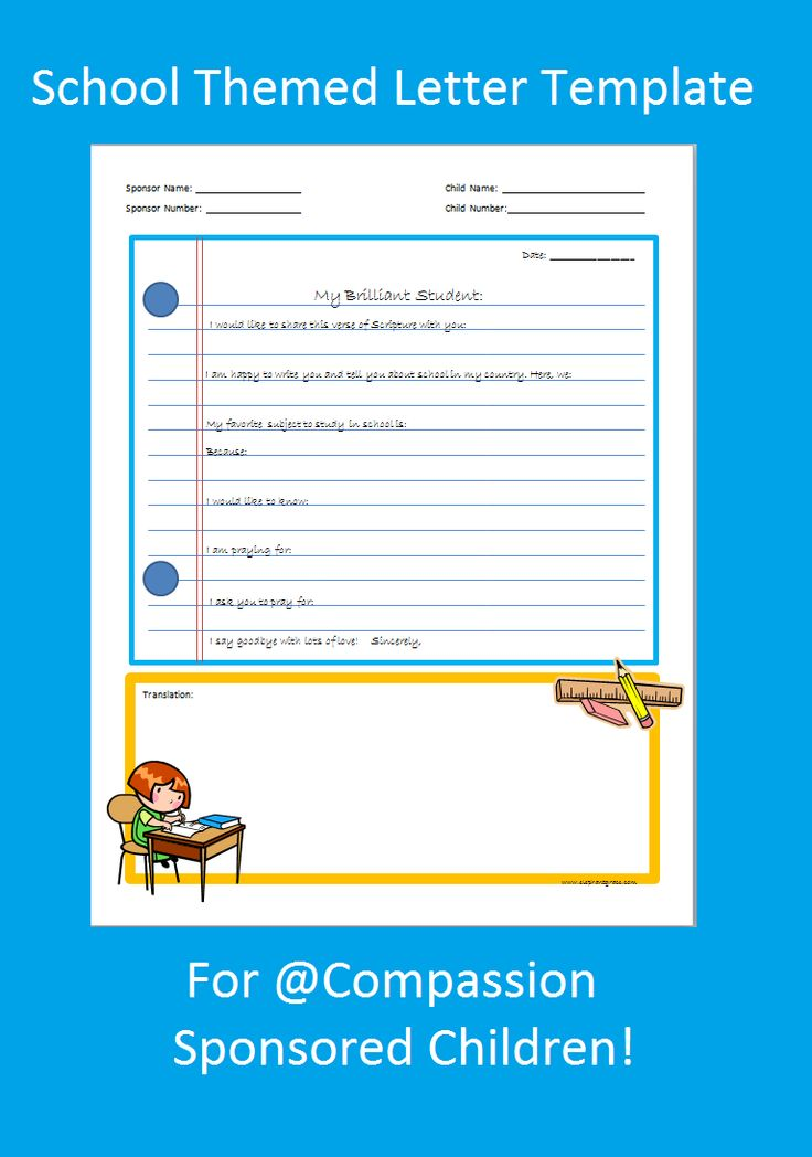 This Blog Has Tons Of Letter Templates  Writing Prompts