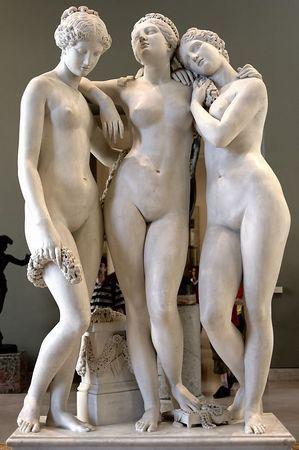 Les Trois Grâces (Three Graces) by Jean-Jacques Pradier, Le Louvre, Paris