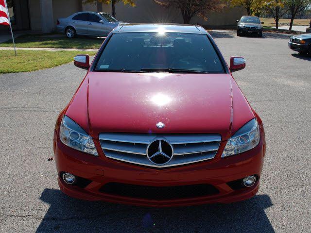 red luxury sedan | mercedes benz c class 2008 barolo red sedan c300 luxury gasoline 6 ...