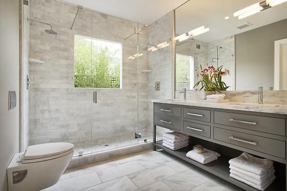 Property porn a contemporary farmhouse with outdoor for Bathroom design 7x7
