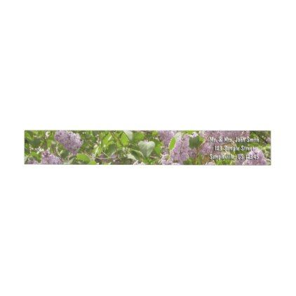 Lilac Bush Wrap Around Label - spring gifts beautiful diy spring time new year