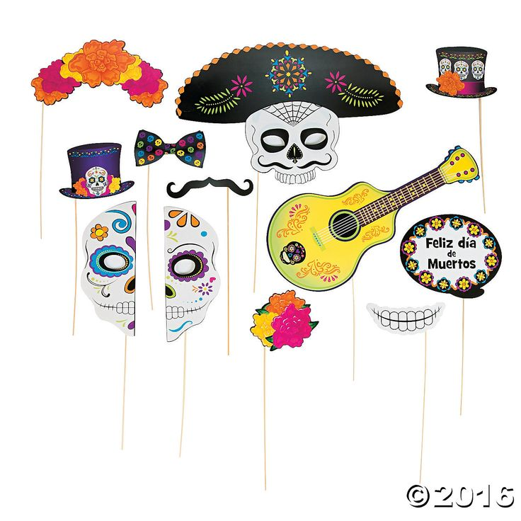 Day of the Dead Deluxe Photo Stick Props - OrientalTrading.com