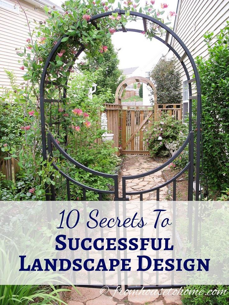 10 Secrets to Successful Landscape Design | If you are planning to update your landscape design, this list of ideas will help to make sure your garden turns out to be a success.