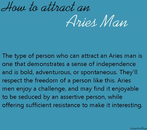 aries attracted to