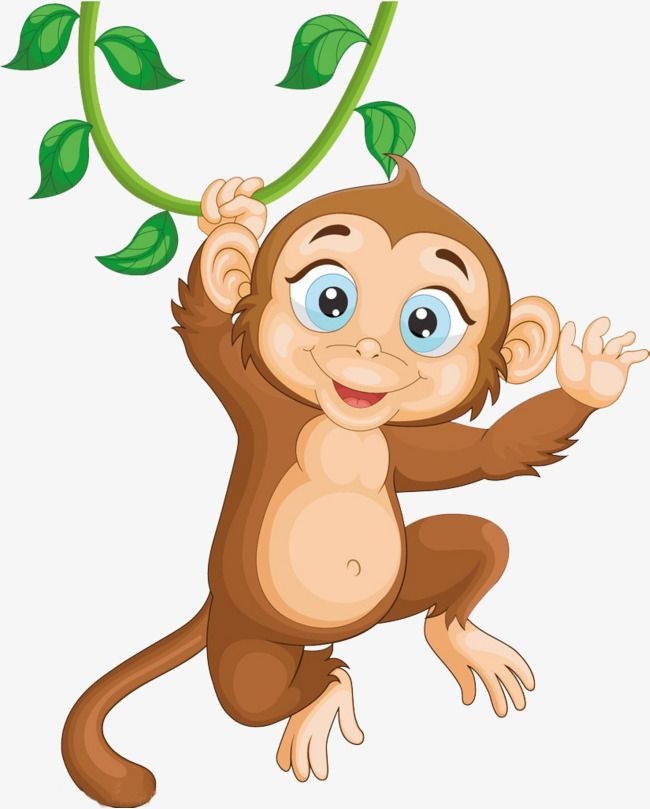 Jumping Monkey Monkey Clipart Lively Monkey Png Transparent Clipart Image And Psd File For Free Download Monkey Cartoon Clip Art