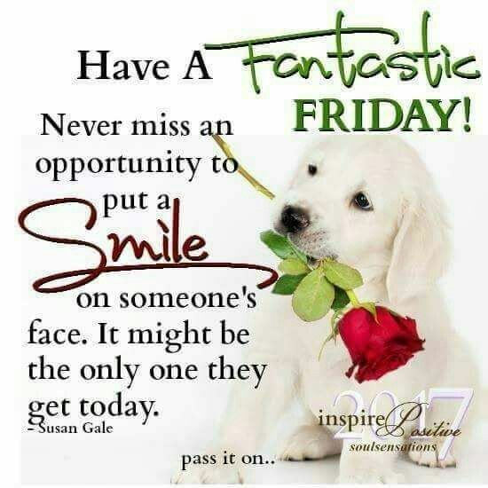 Make someone smile every day. It can make a difference to them and to you!