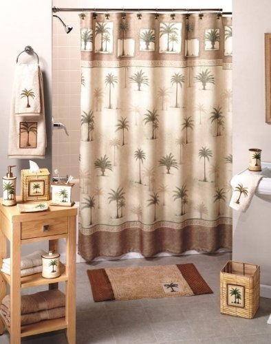 58 best images about my bathroom possibilities on for Palm tree bathroom ideas