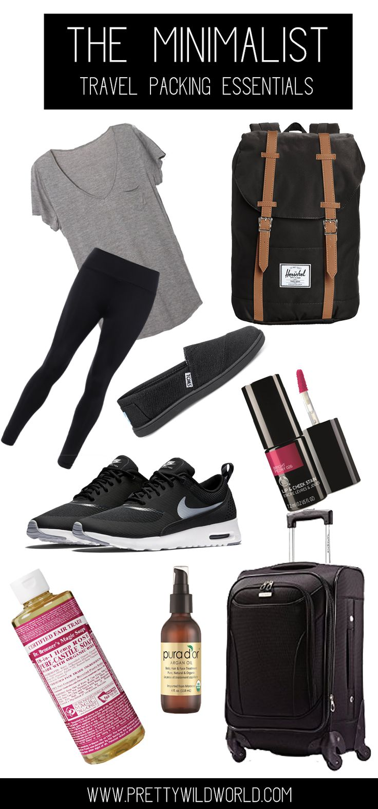 Minimalist Travel Packing Essentials | Carry on | Weekend getaway | Minimalism | Travel Essentials | Ultimate travel list