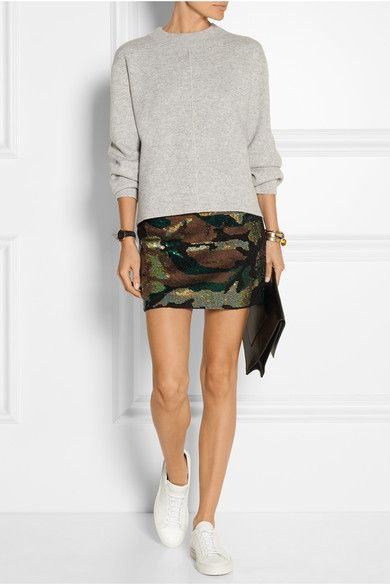 Ashish | Camouflage-sequined silk-georgette mini skirt | NET-A-PORTER.COM