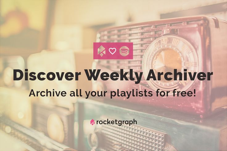 If you love Spotify's Discover Weekly, try this - it saves your playlists every week for free.