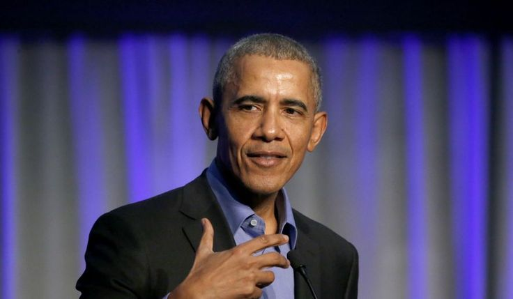 Former U.S. President Barack Obama address the participants at a summit on climate change involving mayors from around the globe Tuesday, Dec. 5, 2017, in Chicago. (AP Photo/Charles Rex Arbogast) ** FILE **