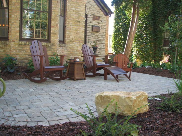Front Yard Entrance Patios | Ecoscapes Sustainable Landscaping - Landscape Design / Build / Do - It ...