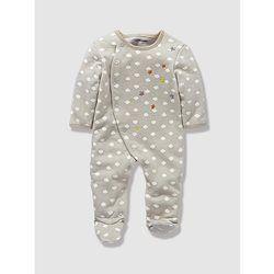 Pyjama+bébé+molleton+brodé+nouveau+né+dès+45cm