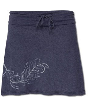 """Tshirt Skirt.  Turn on the wrong side, make an """"A"""" line, sew it, turn it right side out.  Put a drawstring in it."""