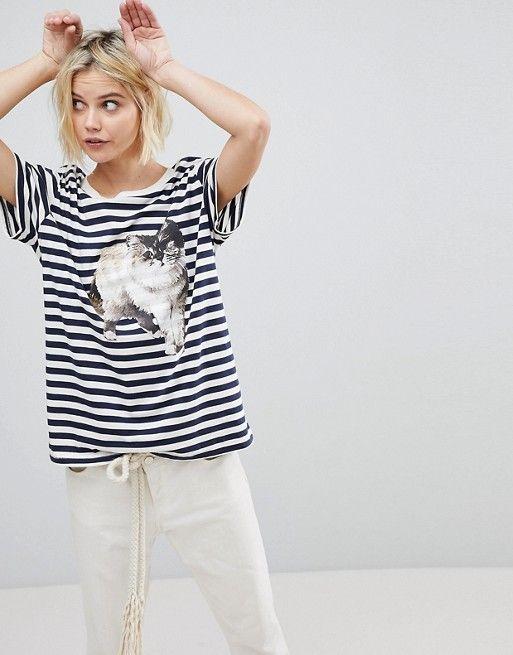 Paul & Joe Sister Cat Print T-Shirt