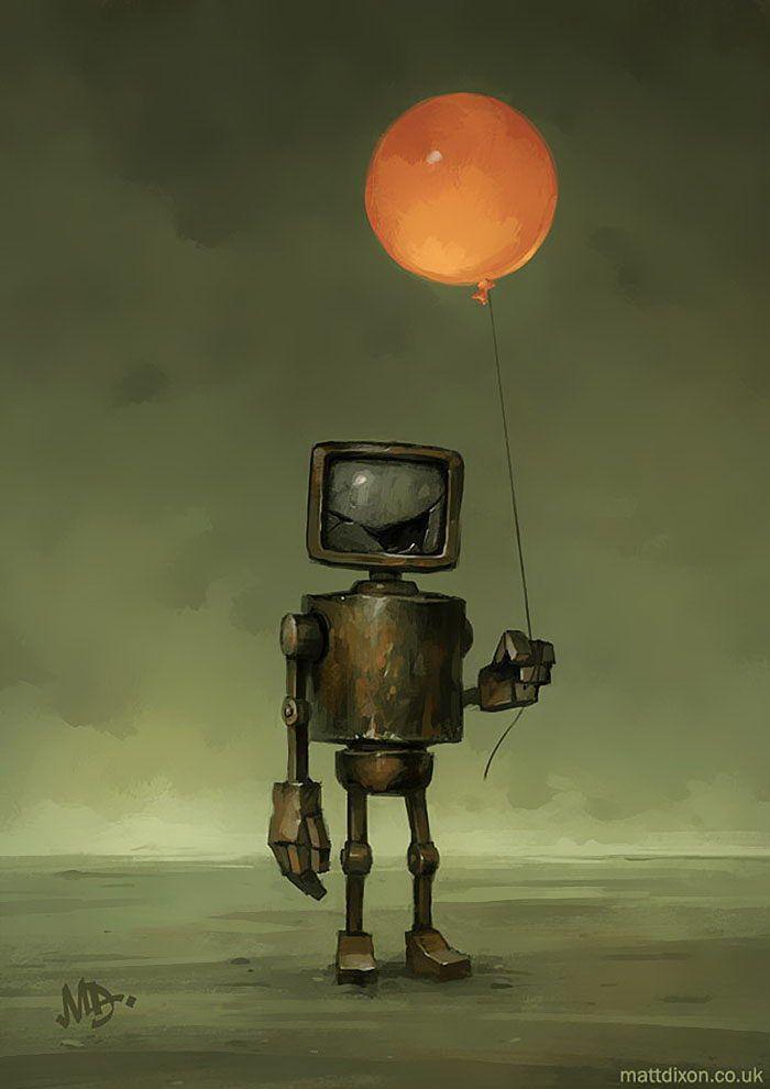 Рисунки прикольных роботов