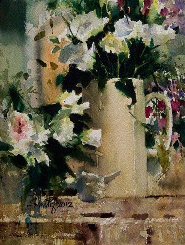 Impressioniartistiche Samir Mondal Watercolor Still