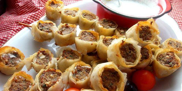 Yufkali sis kebab