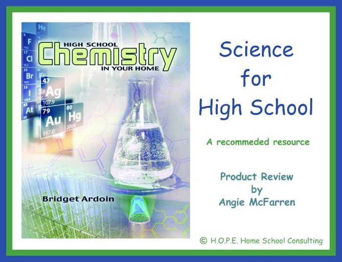 Chemistry in Your Home Product Review Science for High School H.O.P.E. Home School Consulting Blog http://hopehomeschoolconsulting.com/blog/high-school-chemistry/