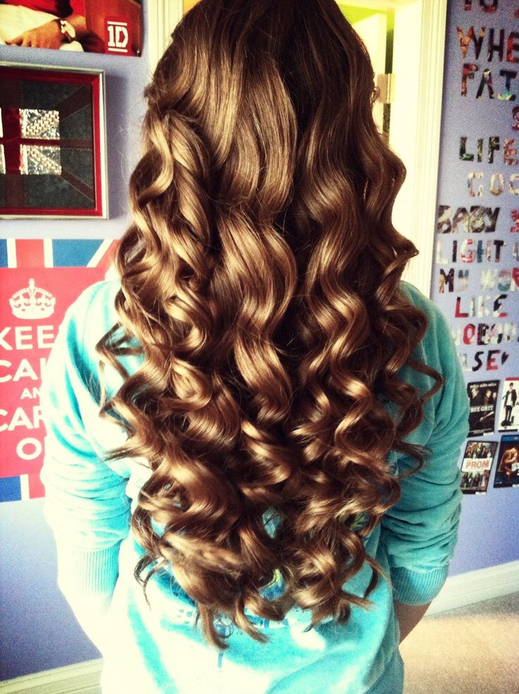 This is so pretty, it was made with a bubble curling wand