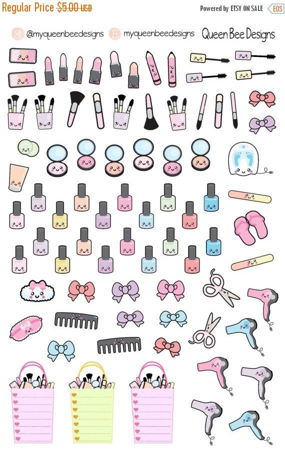 HUGE SALE KAWAII Beauty sampler planner by MyQueenBeeDesigns