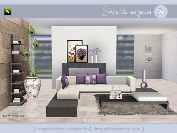 Campanelli livingroom by SIMcredible! - Sims 3 Downloads CC Caboodle