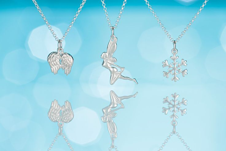 christmas-angel-fairy-and-snowflake-necklaces-lily-charmed #fairy #stockingfiller