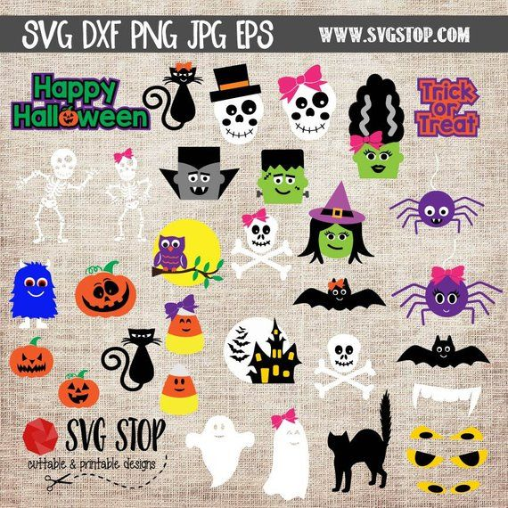 Halloween Graphics Bundle SVG, DXF, PNG, Jpg, Eps Cuttable